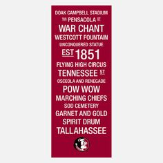 Florida State Seminoles Wall Art, $129, now featured on Fab.