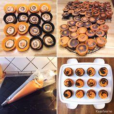 Appelsin chokolade cupcakes - Orange chocolate cupcakes - Foxy cupcakes orange and black