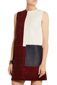 Patchwork suede and leather dress | Edun | 50% off | BG | THE OUTNET