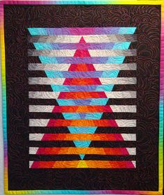 I made the top to this piece several years ago, when I took my first class with Caryl Bryer Fallert , and I was really happy with the way i. Bargello Patterns, Bargello Quilts, 3d Quilts, Jellyroll Quilts, Strip Quilts, Baby Quilts, Quilt Blocks, Bargello Needlepoint, Mini Quilts