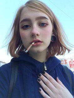 grunge, piercing, and eyes image