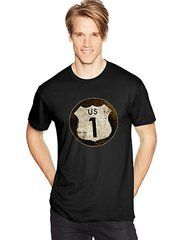 Hanes Men's US ROUTE 1 Graphic Tee (in Sizes Small - 3XL)