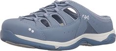 Ryka Womens Tensile BlueberryWhite ClogMule 65 C  Wide *** To view further for this article, visit the image link. #WomenMulesClogs