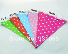Free Shipping Party Paper Pennant Banner  Triangular Flag For Birthday Party Wedding Decoration $60.00