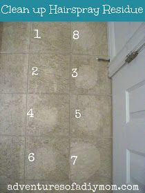 How To Get Sticky Hair Spray Off Bathroom Tile Floors