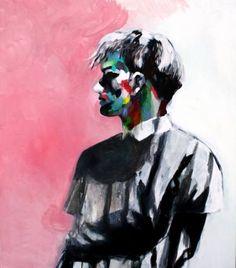 "Saatchi Art Artist Hanna Ilczyszyn; Painting, ""Rainbow man"" #art"