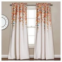 Shop for Lush Decor Weeping Flowers Room-darkening Window Curtain Panel Pair - 52 x Get free delivery at Overstock - Your Online Home Decor Outlet Store! Get in rewards with Club O! Room Darkening Curtains, Blackout Curtains, Drapes Curtains, Curtains Kohls, Floral Curtains, Drapery, Orange Curtains, Bedroom Drapes, Printed Curtains