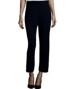 St.John Caviar Santana Wide Leg Capri Pants Size 6 $495 Pristine!  | Clothing, Shoes & Accessories, Women's Clothing, Pants | eBay!