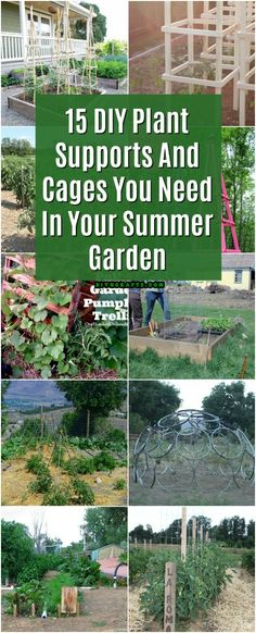 15 DIY Plant Supports And Cages You Need In Your Summer Garden #gardening #plants #homemade #woodworking via @vanessacrafting