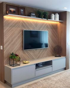 Amazing Modern TV Wall Decor Idea for Living Room Design Look Luxury Tv Unit Decor, Tv Wall Decor, Wall Tv, Tv Wall Panel, Led Panel, Wood Wall, Modern Tv Wall Units, Modern Wall, Tv Console Modern