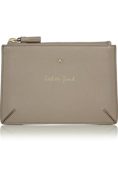 Anya Hindmarch | Fashion Fund textured-leather pouch | NET-A-PORTER.COM