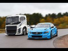 "Watch Volvo's 2,400-HP ""Iron Knight"" Truck Race a Volvo S60 Polestar Race Car - The Drive"