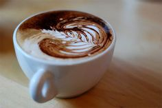 I love coffee art... Now I just need an old school espresso maker to practice...