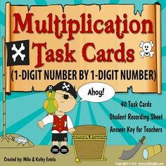 Multiplication Task Cards {Multiplying 1-Digit Number by 1-Digit Number} $