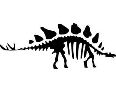 Stegosaurus Dinosaur Fossil - LARGE - Vinyl Wall Decal, Sticker