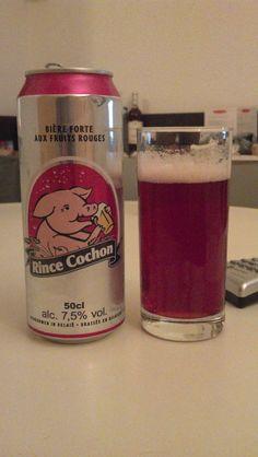 Cerveja Rince Conchon Aux Fruits Rouges, estilo Fruit Beer, produzida por Haacht, França. 7.5% ABV de álcool.
