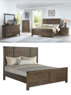 The Galleon Bed by New Classic Furniture is one-of-a-kind. From its earthy wood finish to its quaint metal accents, its a great example of industrial style furniture done right. Sharp, clean lines are incorporated in its design, creating a simplicity that is easy to love. This industrial bed is a part of the Galleon Bedroom Collection by New Classic Furnitureand located at The Great American Home Store in Memphis, TN, and Southaven, MS. #shopgahs #bedroom #bed #masterbedroom #guestroom #wood