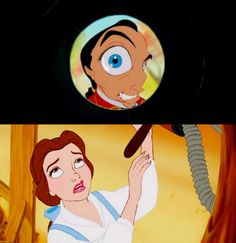 Beauty and The Beast -- I have that same face whenever someone tries to flirt with me when I have no iterest in them... i know that feel Belle....