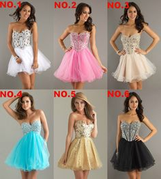 New Sexy Stock Short Mini Party Evening Dress Prom Gown Size :6-16