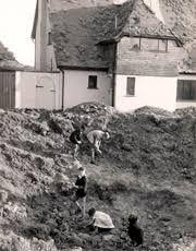 Children playing in bomb crater Bognor Regis West Sussex
