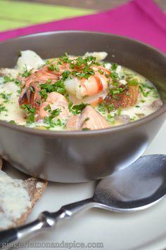 Around The World, Week by Week: Ireland - Seafood Chowder  by gingerlemonandspice