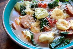 Quick and delicious weeknight meal - Tortellini Soup