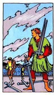 5 de Espadas, Significado de las cartas del Tarot