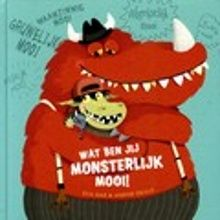 Wat ben jij monsterlijk mooi! Monstertje Monni weet best dat hij supersterk is en razendsnel. Maar is hij ook mooi? Hij vraagt het aan zijn vader, moeder, broertje, vriendinnetje en andere monsters. Zij vinden hem prachtig! Prentenboek met grappige, kleurrijke illustraties. Vanaf ca. 4 jaar.