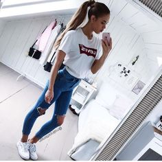 Stylish High-Waisted Hole Design Bodycon Jeans For Women