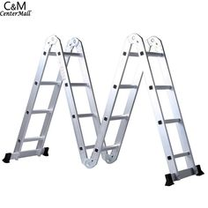69.90$  Watch now - http://ali9zq.worldwells.pw/go.php?t=32781962462 - Ancheer 4.65M Aluminum Alloy Multi-function Adjustable Folding Step Extension Home Outdoor Ladder 69.90$