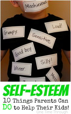 If you want your child to be HAPPY, stick up for themselves, and become who they are truly meant to BE - you HAVE to read this! Healthy Self-Esteem in Kids: 10 Things Parents Can DO to Help! {One Time Through} #selfesteem #kids #teachingkidsaboutcharacter #parenting