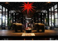 The cool interior of the lounge in the Park Hyatt Siem Reap in #Cambodia is the perfect place to see and be seen.