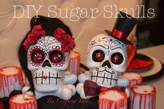 DIY Sugar Skulls (Calaveras) perfect for a Day of The Dead (Dia de Los Muertos) or Halloween party