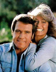 Farrah Fawcett and Lee Majors.