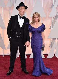 "Oscars Red Carpet Fashion 2015: Best and Worst Dressed - Business Insider - ""Whiplash"" best supporting actor winner J.K. Simmons with wife Michelle Schumacher. - 2015"
