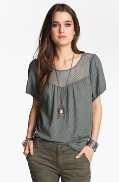 Free People 'Geo Boho' Peasant Top available at Nordstrom