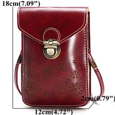 Women Candy Color Flower Crossbody Bag 6inch Phone Bag Portable Shoulder Bags is Worth Buying - NewChic Mobile.