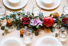20 Gorgeous Winter Fruit Wedding Decor Ideas via Brit + Co