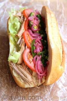 Roasted pork sandwich / Sanduche de chancho hornado