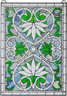Eclectic Glass - Water Lily Hearts and Jewels Stained Glass Window, $195.00  Privacy and Beauty at www.eclecticglass.com