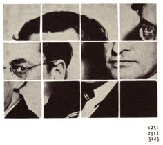 Raymond Queneau.  Fun idea to do with pics of my kids or our family.