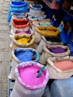 The town of Chaouen likes its colors.