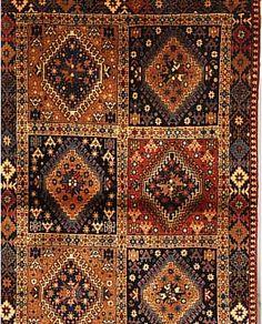 Yalameh,Persien ca 150 x 99 cm. Wolle auf Wolle.