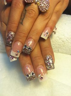 ❤ My 3D French Tip Nails By: Doris