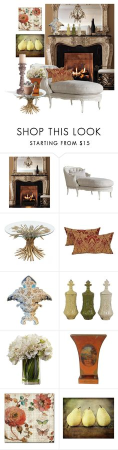 """French Country Cozy"" by stephanie-mac ❤ liked on Polyvore featuring interior, interiors, interior design, home, home decor, interior decorating, Ambella, Aspire Home Accents, Trademark Fine Art and Bliss Studio"