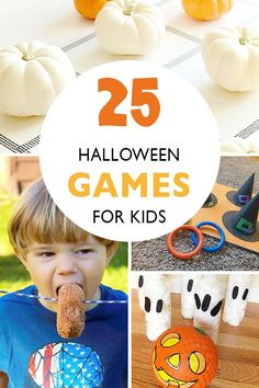 25 Halloween Games for Kids - These Halloween games are perfect for class or home Halloween parties. These Halloween games are fun for kids and can be adapted to use at a class or home Halloween party. Casa Halloween, Halloween Activities For Kids, Halloween Party Games, Kids Party Games, Halloween Birthday, Holidays Halloween, Halloween Kids, Halloween Treats, Youth Activities