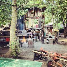 Jugendfarm and adventure playground outside of Stuttgart.