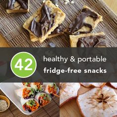 42 healthy & portable fridge-free snacks