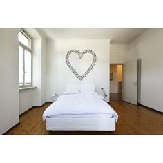 Heart Outline Musical Notes Music Wall Stickers Wall Art Decal