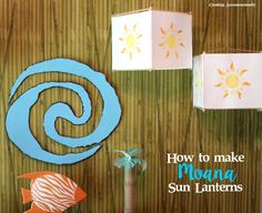 Learn how to make an easy Moana-inspired sun lantern that will be the perfect touch your your own Moana/Luau themed party!